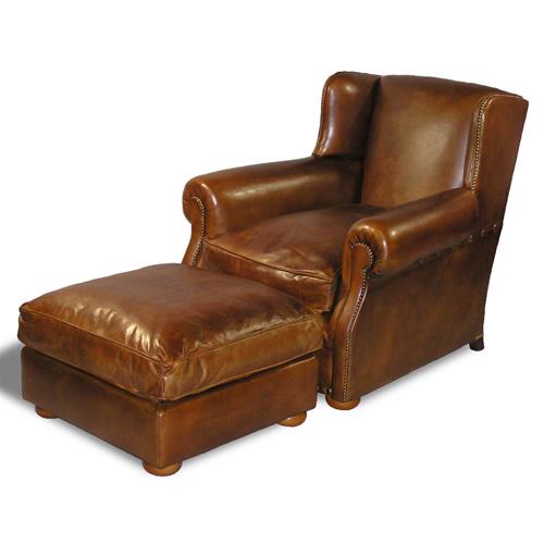 English Club Chair Ottoman (Item #1212)