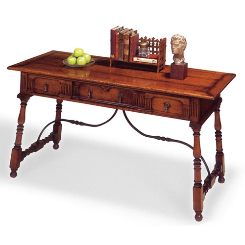 Tuscan Writing Table (Item #2587) - Antique Reproduction Desk, Antique Desk, Antique Writing Table